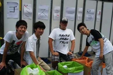 毎回学生ボランティアにお手伝いしてもらってます。ありがとうございます。